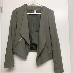 H&M military green blazer